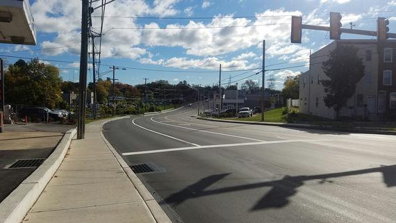 6 completed ridge pike looking toward school lane
