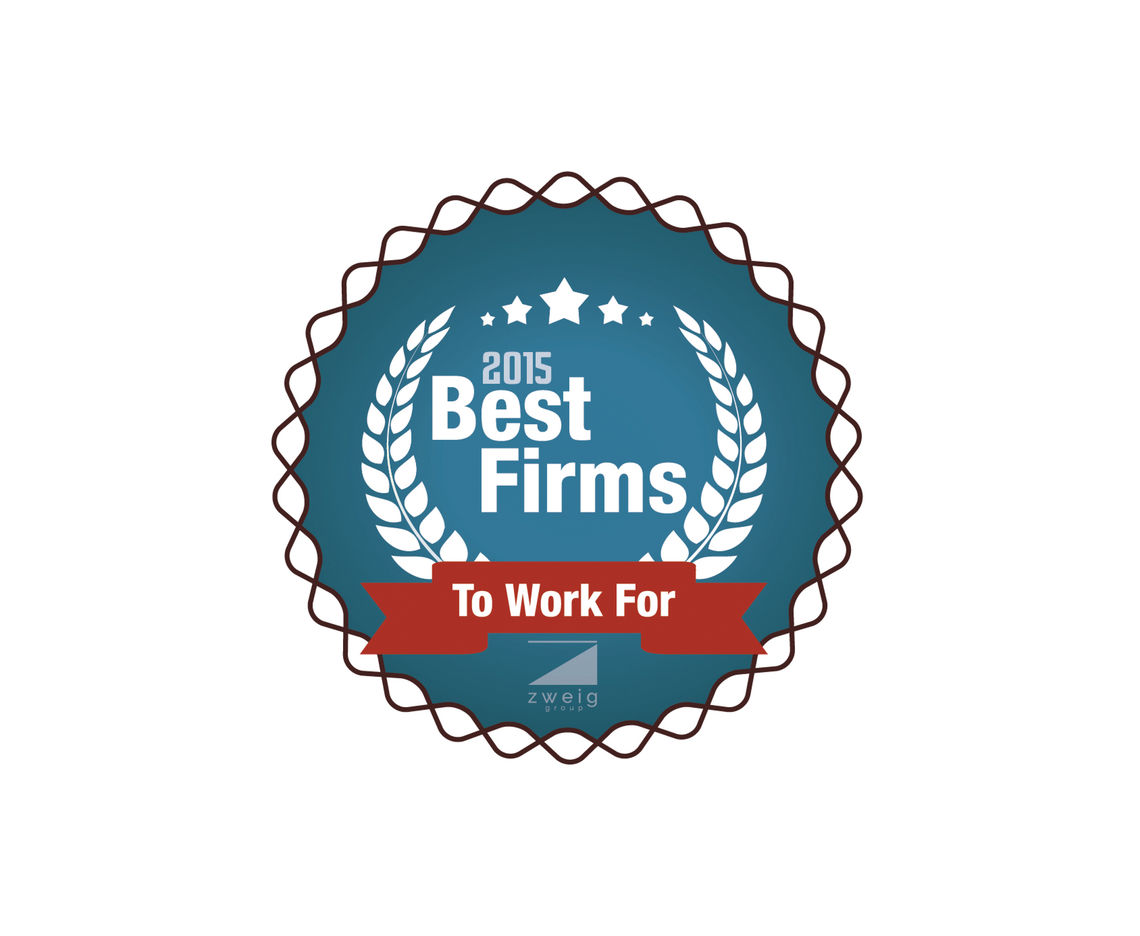 McCORMICK TAYLOR RANKS #50 ON ZWEIG GROUP'S 2015 BEST FIRMS TO WORK FOR LIST