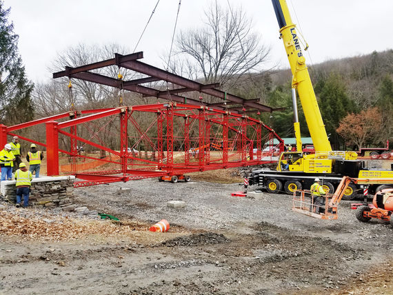 rehabilitated and relocated truss bridge