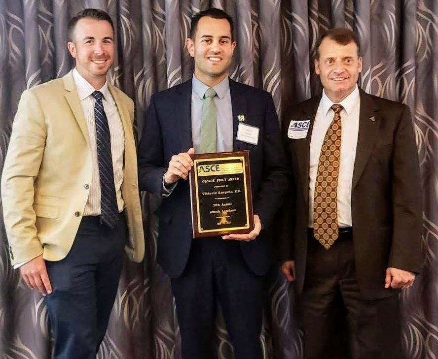 VITTORIO ANEPETE, PE RECEIVES GEORGE STOUT AWARD