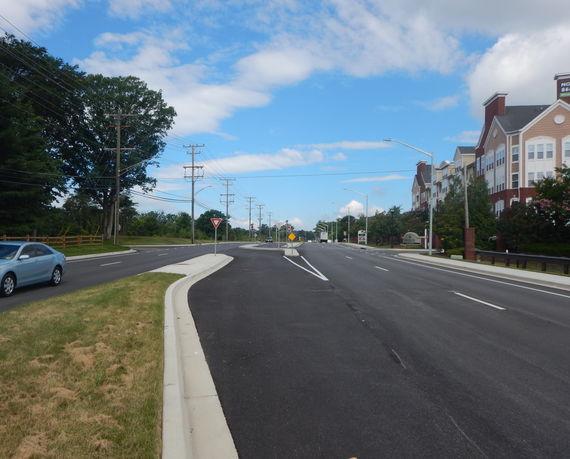 contee road looking west toward the windsor at contee crossing condominiums