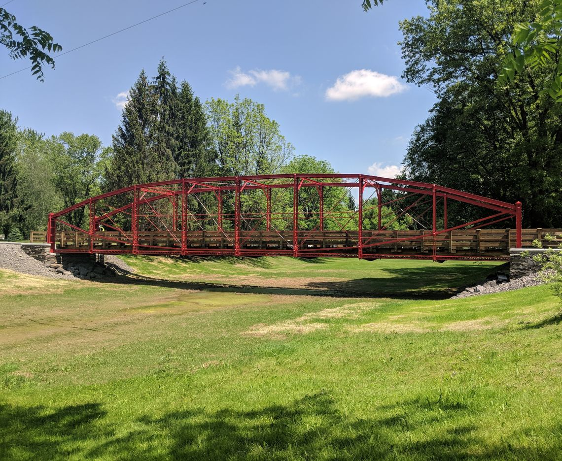HISTORIC TRUSS BRIDGE REPLACED, RELOCATED TO LAZY BROOK PARK