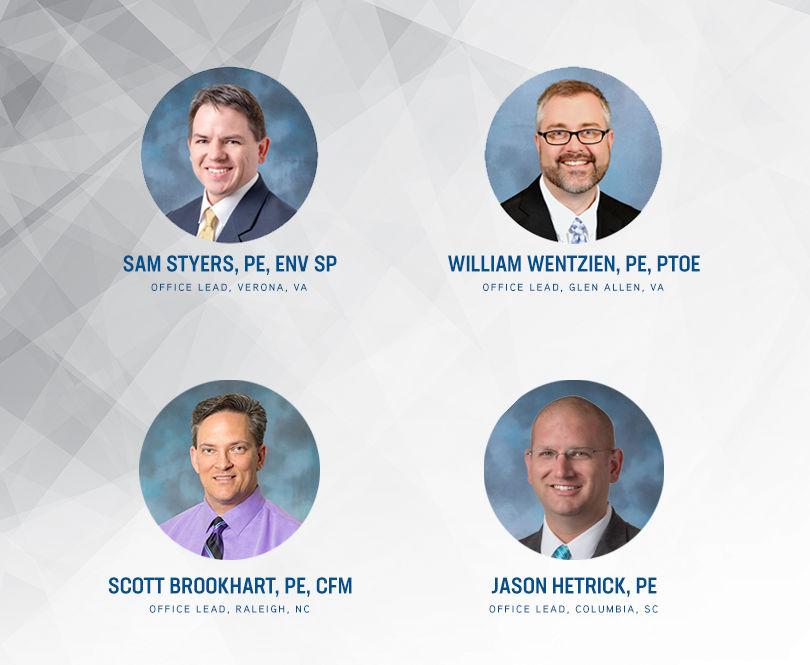 McCORMICK TAYLOR ANNOUNCES LEADERS IN VA, NC & SC MARKETS