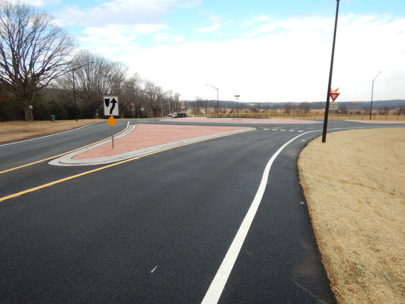 looking westbound on greenspring avenue