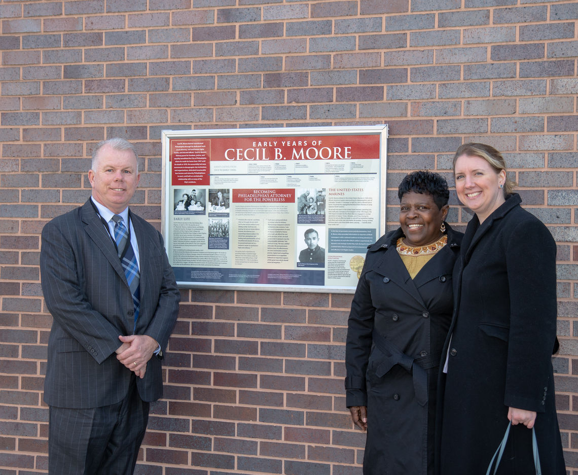 SEPTA UNVEILS TWO HISTORICAL DISPLAYS AT CECIL B. MOORE STATION