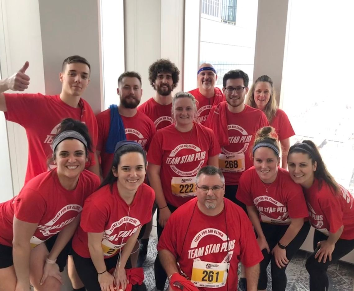 SCOTT ANDERSON CLIMBS STAIRS FOR AMERICAN LUNG ASSOCIATION