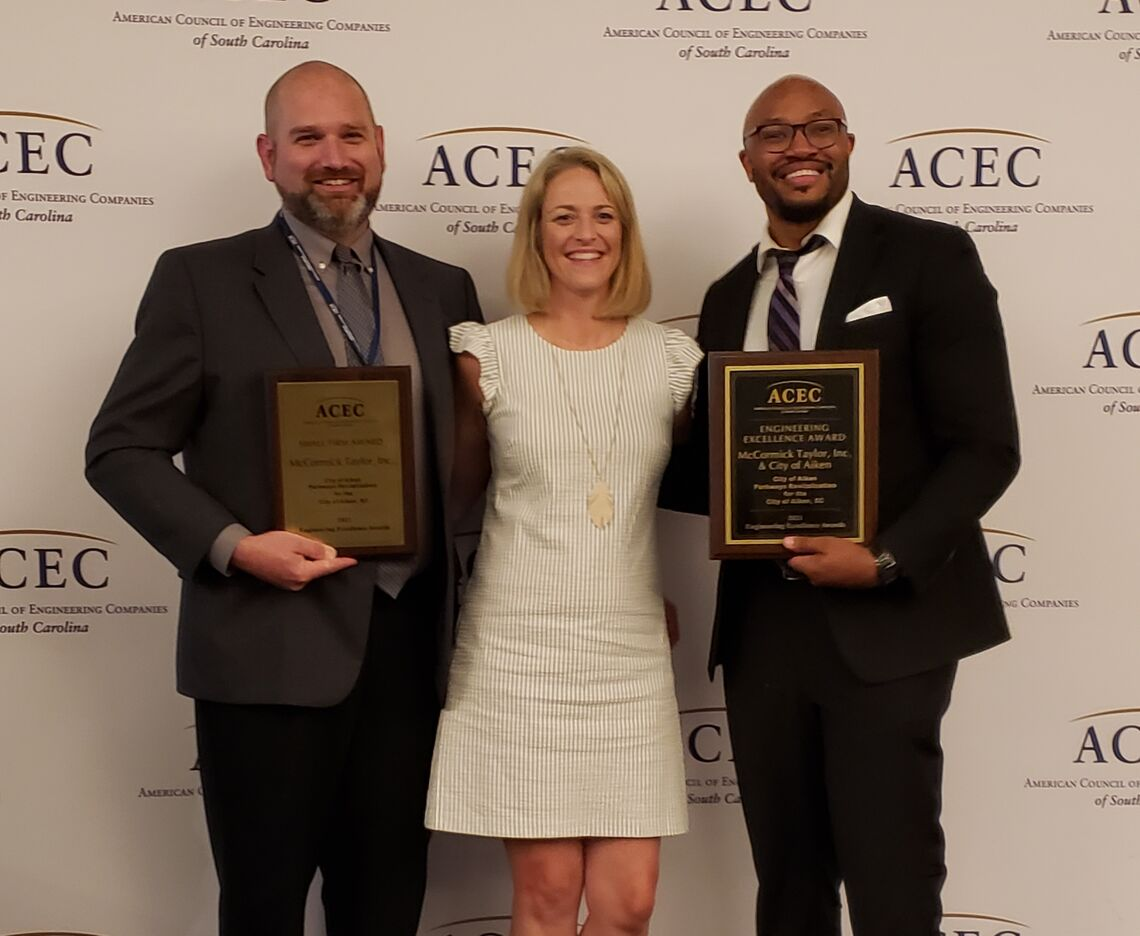 McCORMICK TAYLOR RECEIVES AWARDS FROM ACEC SC