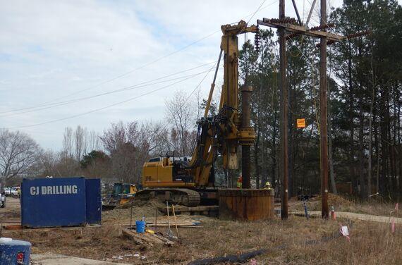 5 photo 2 transmission tower foundation construction