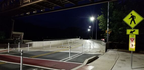 bridge after at night